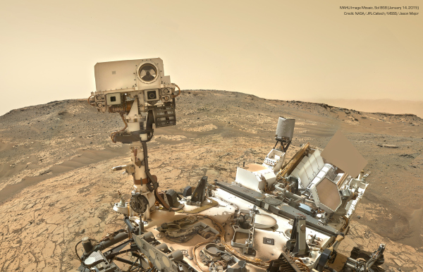 Mosaic of Curiosity images acquired on Jan. 14, 2015 (NASA/JPL-Caltech/MSSS/Jason Major)