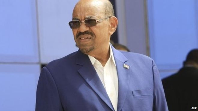 Omar al-Bashir earlier this week in South Africa (Photo: BBC)
