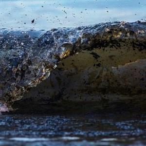 Oil in wave