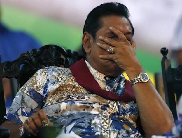 Ousted: Rajapaska (Photo: Reuters)