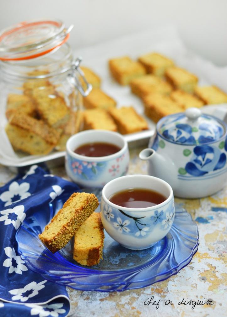 Honey sesame biscotti